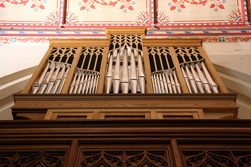 St Peter's Organ – the new Choir case in construction